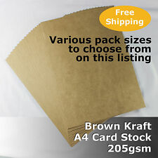 Kraft Brown ReCycled Enviro Card A4 Size 205gsm #S0108