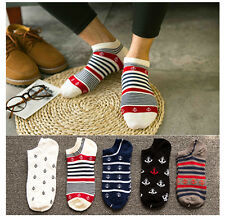 5 Pairs Fashion Mens Sports Socks Lot Crew Ankle Low Cut Casual Cotton Socks