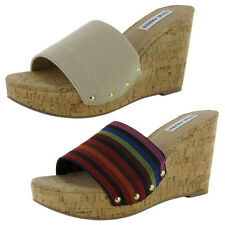 Steve Madden Womens Gibby Wedge Sandal Shoe
