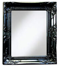 Black Shabby Chic Wall Mirror 40x50Cm Salon Bathroom Hallway Home Deco Gift