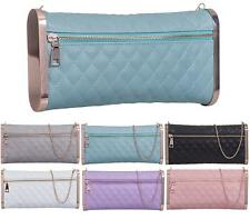 NEW LADIES RETRO QUILTED WEDDING LADIES PARTY PURSE PROM EVENING CLUTCH HAND BAG