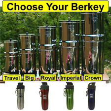 Berkey Water Filtration System w/ Water Bottle - Crown Imperial Royal Big Travel