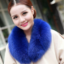 Real Fox Fur Collar Women Scarf Shawl Stole Wrap Furry Neck Warmer Collar #59