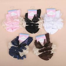 New Baby Girls Socks Lace Bow Solid Socks for Children Summer Kids Tights 2-10T
