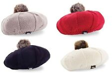 Mud Pie Women's Fashion Holiday Winter Cable Knit Beret Hat – Various Colors