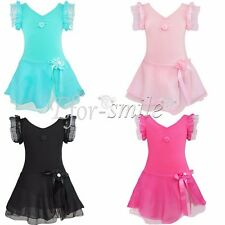 Girls Kids Princess Ballet Dance Party Tutu Dress Leotard Dance wear Costume