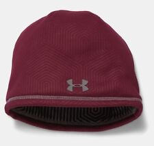 Under Armour Men's ColdGear Infrared Deep Red Beanie Skullcap Hat NWT OSFA #024