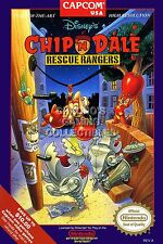 RGC Huge Poster - Chip 'N Dale Rescue Rangers Nintendo NES BOX ART - NES014