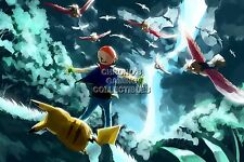 RGC Huge Poster - Pokemon Ash and Pikachu Nintendo GB GBC GBA DS 3DS - POK012