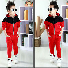 Baby boys coats hoodied jacket + pants 2pcs Boy clothing sets kids sports suit