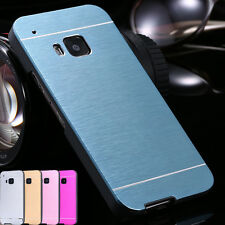 Motomo Aluminum Metal Brushed Hybrid Hard Case Cover For HTC One/Desire Series