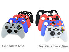 Silicone Rubber Skin Case Gel Protective Cover for Xbox One / 360 S Controller