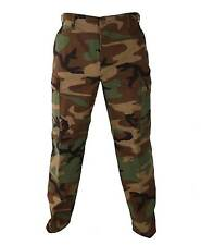 Woodland Camo BDU Pants Military Army Cargo Fatigue CamouflageTrousers Bottoms