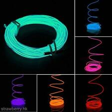 5M Flexible EL Neon Light Glow Strip Rope Wire Tube+Inverter For Car Auto Gift