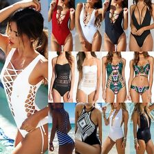 Sexy Ladies One Piece Swimwear Push Up Top Monokini Bikini Bandage Swimsuit FO