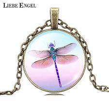Women Fashion Pendant Necklace Pretty Lovely Butterfly Cabochon Jewelry
