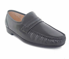 Climate X 21592-2 Mens GRAY Leather Slip On Comfort Dress Moccasin Shoes WIDE