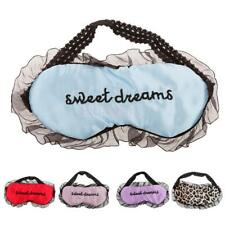 Lace Eye Mask Sleep Travel Padded Shade Cover Rest Relax Sleeping Blindfold