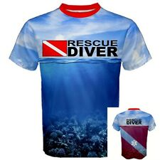 RESCUE DIVER Down Flag Deep Sea Scuba Diving Equipment Pro Sport  T-SHIRT RDF