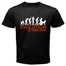 EVOLUTION OF PORN STAR sex movies adult entertainment  Funny black T-SHIRT E17