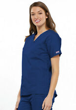 Galaxy Blue Cherokee Workwear V Neck Scrub Top 4700 GABW