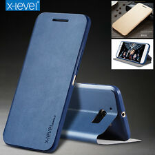 X-Level Ultra-thin Stand Luxury PU Leather Flip Cover Skin Case For HTC Mobiles