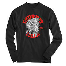 BLS BLACK LABEL SOCIETY Indian Chief Skull Logo rock band Unisex Longsleeve