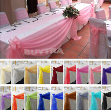 400*50cm Top Table Swags Sheer Organza Fabric DIY Wedding Party Bow Decorations