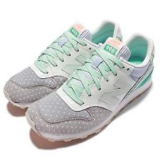 New Balance WR996II D Grey Green Womens Running Trainers Sneakers WR996IID