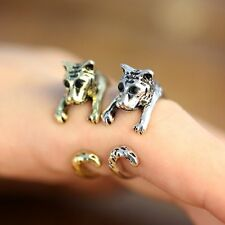 2016 Cool Punk Tiger Head Silver/Bronze 17MM Animal Knuckle Rings Women Ring