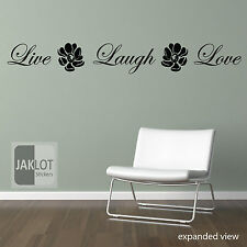 LIVE LAUGH LOVE - Vinyl Wall Art Sticker Decal, Quote
