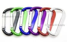 "24 PCS 2.25"" HIGH QUALITY ALUMINUM D-RING KEY CHAIN CARABINER SPRING BELT CLIP"