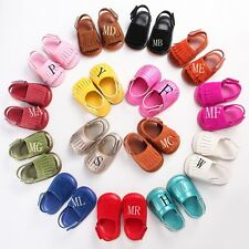 Baby toddler Moccasins Tassels Soft Sole Crib Shoes Slip-on Leather shoes123 QE