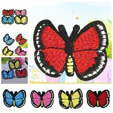 1pcs Butterfly Embroidery Sew Iron On Patch Badge Embroidered Fabric Applique FM
