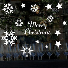 Snow Flakes, Stars, Merry Christmas - Wall / Window Vinyl Stickers GREAT VALUE