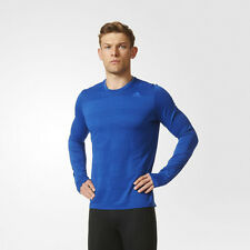 Adidas Supernova Mens Blue Climalite Long Sleeve Crew Neck Running Top