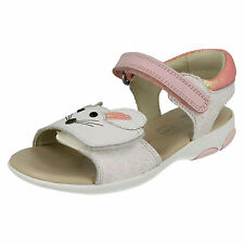 CLARKS INFANT GIRLS WIGGLE TAIL VELCRO FASTENING CASUAL FLAT SUMMER SANDALS