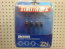 StreetWires ZN3260 6 meter 2 Channel Interconnect 19.69' Interconnects 3  NEW