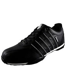 K Swiss Mens Arvee 1.5 Leather Casual Classic Trainers Black *AUTHENTIC*