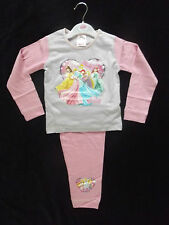 BNWT GIRLS DISNEY PRINCESS PINK/LILAC COTTON L/S PYJAMA 18MTHS - 5YRS VERY CUTE!