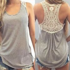 Womens Sexy Tank Tops Vest Tops Long Shirt Casual Camisole Sleeveless Blouse Tee