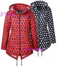 NEW Girls Raincoat Mac Girl Cagoule SPOTTED Shower Proof Jacket Age 7 - 13 Years