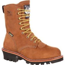 "Mens Georgia 8"" Logger Steel Toe Gore Tex Insulated Work Boot Size 8-15 G9382"