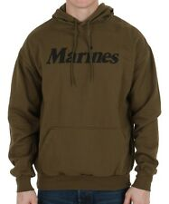 Olive Drab Marines Hooded Sweatshirt