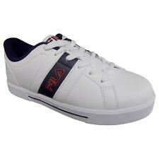FILA BOCA 6 Mens White Navy Red Athletic Casual Lace Up Fashion Sneakers Shoes
