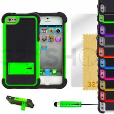SHOCK PROOF & STAND SERIES CASE COVER FITS IPHONE 5 5S SCREEN PROTECTOR STYLUS