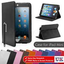 NEW Leather Case Cover For For Apple iPad 2/3/4 mini Air Screen Protector Stylus