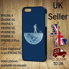 Astronaut Mowing the Moon Funny Quirky Retro case for iPhone Phone Cover