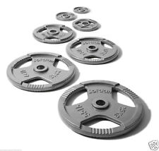 """2""""Weights Plates OLYMPIC Weight Metal Cast Iron 15kg Barbell"""