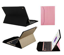 Aluminum Wireless Bluetooth 3.0 Keyboard Stand Leather Case Cover For iPad